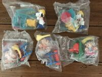 McDonalds Kids Happy Meal Toys Peanuts Charlie Lucy Snoopy Lot of 5 New 1989