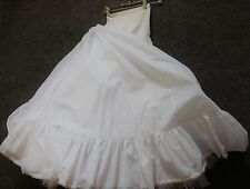 SLIP Half Very Full Underskirt Ruffles White Perfect for Prom Bride Dance Sz Sm