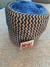 Globein Basket Lidded Handwoven In Oaxaca Bright Colors