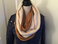 SIMONETTA Camel Beige Knit INFINITY SCARF_Long Loop Scarf_Extra Wide_$35 Retail