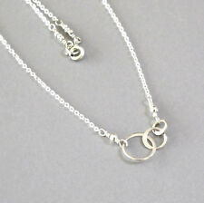 djs Sundance Sol Tiny Irregular Circles Of Life Necklace Sterling Silver Boho