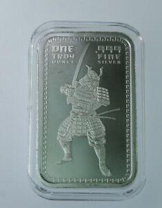 2020 1oz Samurai Warrior BAR  .999 SILVER  BU in direct fit capsule #913