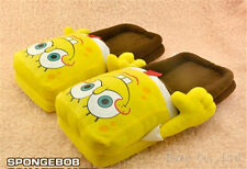 New SPONGEBOB Squarepants Soft Plush Stuffed Slipper Kid gift UK*