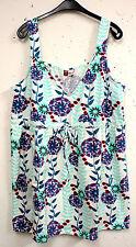 Lockre Sitzende Übergröße Damenblusen,-Tops & -Shirts mit V-Ausschnitt und Baumwollmischung