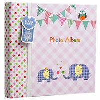 Arpan Large Baby Girl Pink Memo Slip In Photo Album 200 6x4   Photos - Elephant