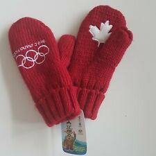 NWT Official 2010 Vancouver Winter Olympics Red Maple Leaf Mittens Canada HBC