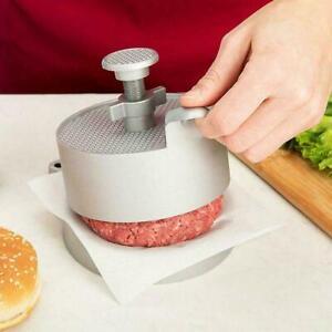Aluminum Non-Stick Adjustable Burger Hamburger Press Make Tool Meat Beef Q6U6