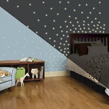 180 New GLOW IN THE DARK CONFETTI DOTS WALL DECALS Stickers Polka Dot Decor