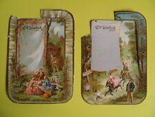 2 Alte Liebig Tischkarten  beschädigt