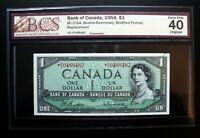 1954 Bank of Canada $1 Dollar Replacement Note *D/O BCS EF-40 BC-37bA