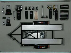 GMP Parts Dept. 1/18 GM Performance Parts Tool and Trailer Set MiB