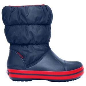 Crocs Winter Puff Boot Kids - Navy/Red