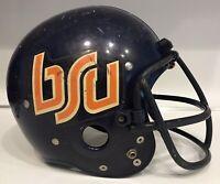 Vintage 70s Boise State Broncos Game Used Riddell TK Suspension Football Helmet