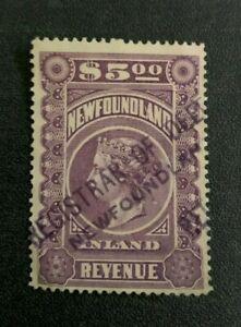 Newfoundland Revenue Stamp #NFR7 Used