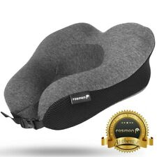 Fosmon U-Shaped Memory Foam Travel Pillow Neck Back Support [NO STORAGE BAG]