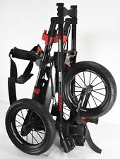 Bag Boy Compact 600 Golf Push CartBlack Red Spoke Wheels Collapsible