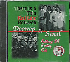 There Is a Thin Red Line Between Doowop & Soul CD Brand New  24 Tracks on Presto
