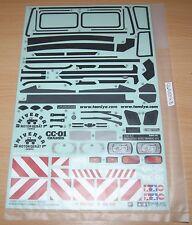 Tamiya 58433 Mercedes AMG DTM Classe C 2008//TT01E 9495586//19495586 le Decalcomanie//Adesivi