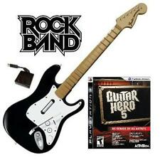NEW PS3 Rock Band Wireless Fender Stratocaster Guitar & Guitar Hero 5 Game
