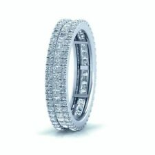 Anillos de joyería con diamantes en oro blanco princesa