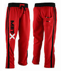 Mens MET-X Training Joggers, Sweat Pants Gym Sports Track Bottoms Trousers Red