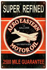 Super Refined Aero Eastern Motor Oil Co. Sign