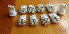 10 White Lincoln *SUPER BRIGHT 12V LED 194 Wedge Instrument Panel Light Bulb NOS