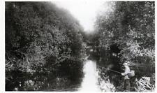 Wilne Shardlow Nr Castle Donington Fishing sepia unused RP old postcard Good