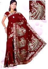 NW Bollywood Indien Sari Saree ROBE KAFTAN Ventre Danse