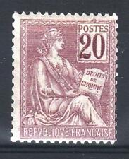 """FRANCE STAMP TIMBRE N° 113 """" TYPE MOUCHON 20c BRUN-LILAS """" NEUF xx TTB  P469"""