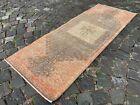 Handmade rug, Runner rug, Turkish rug, Vintage rug, Wool, Carpet | 2,0 x 5,4 ft