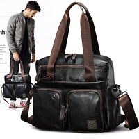 Fashion US Mens Leather Handbag Briefcase Laptop Bag Shoulder Messenger Bag