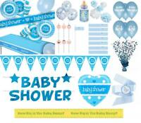 Blue Baby Shower Party Supplies Tableware Decorations Plates Cups Balloons Boy