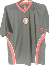 VINTAGE Manchester United MUFU BLACK W/ RED TRIM Soccer Men's XL SHIRT/JERSEY