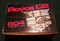 New Royce CB 604 NOS 40 Channel Mobile Transceiver 1977 NIB w/ Accessories Mint
