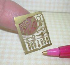 "Miniature ""Brass-Like"" Keys and Keyholes, Laser Cut: DOLLHOUSE 1/12 Scale"