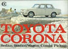 TOYOTA CORONA SEDAN, STATION WAGON, COMBI AND PICKUP SALES BROCHURE LATE 60's