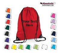 Personalised Drawstring Bag - Your Text Name School Club PE Swim Gym Dance Team