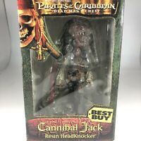 Pirates Of The Caribbean Cannibal Jack Captain Neca Resin HeadKnocker Bobblehead