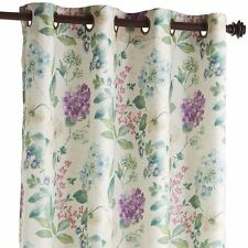 PIER 1 TIFFANY FLORAL 50 X 84 CURTAIN PANEL NEUTRAL COTTAGE NEW
