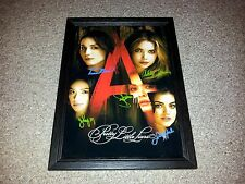 """PRETTY LITTLE LIARS PP SIGNED & FRAMED 12X8"""" A4 POSTER SHAY MITCHELL LUCY HALE 2"""