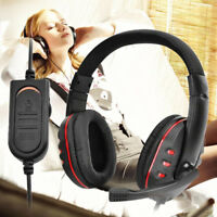Universal 3.5mm Wired Gaming Stereo Headset Headphone MIC for WII PS4 XBOX One