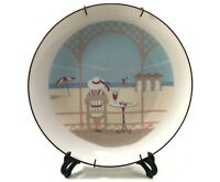 Vintage Hanging Porcelain Plate Signed Painted Decorative Collectible Germany 8""