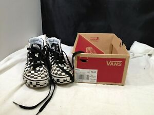 Vans (Full Check) Black/True W Skateboard Shoe Size 13
