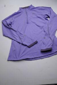 Nike Running Element Womens Size M Medium Purple Stretchy Long Sleeve Shirt