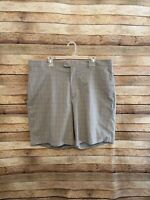Nike Golf Mens Tiger Woods Collection Gray Plaid Flat Front Golf Shorts SIze 40