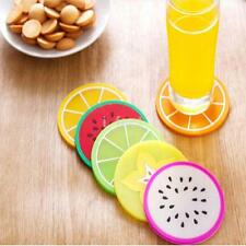 6PC/Set Fruit Coaster Colorful Silicone Cup Drinks Holder Mat Tableware Placemat