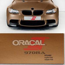 ( 15,10€/m ²) Oracal 970ra COBRE MATE Metálico 092 Película Auto CONDUCTO DE