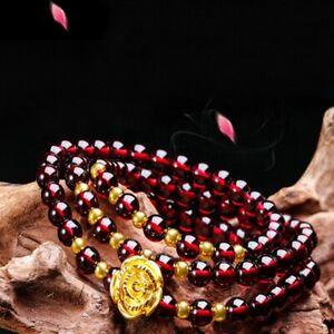 Natural Gemstone Gold Rose Multilayer Bracelet Chakra Healing Quartz Women Men