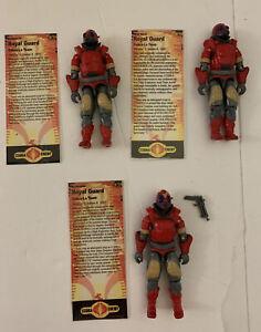 GI Joe Lot of 3 Cobra La Army ROYAL GUARD Figures  1987